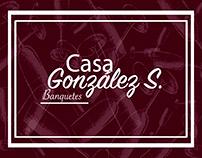 Tarjetas personales Casa banquetes González S