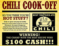 Chili Cook-Off Flyer | Promotional Piece