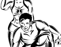 Gym Style T-shirt Illustrations