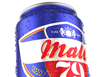 Non alcoholic beer can design and 3d rendering