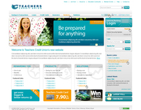 Teachers Credit Union website design - initial concept