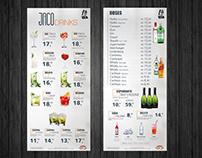 Cardápio Drink / Display de Mesa - Cliente Jacobina