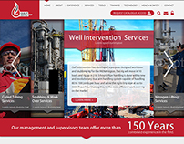 Detailed Homepage Design for Oil Trading Company
