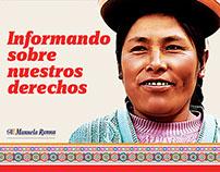 Cartilla Informativa para ONG Manuela Ramos