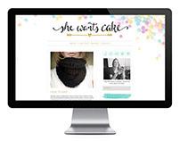 She Wants Cake Blog Design