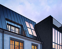 Exterior Visualization Project in Vilnius Old town