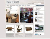 Zuku Trading Furniture e-commerce website design