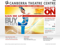 Canberra Theatre Centre website design