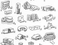 Architecture Houses - 3d prints 2