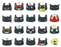 Black Cat Emojis