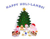 HAPPY HOLI-LAMBS!