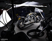 Harley Davidson V Rod and Shovelhead