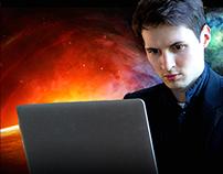 Фанарт-постер к фильму про Павла Дурова