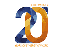organizer 20.anniversary logo design