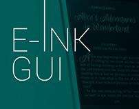 GUI for e-ink Pocketbook Reader
