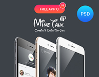 MineTalk Free PSD