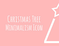 Christmas Tree Minimalism Icon