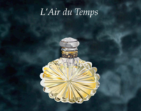 L'AIR DU TEMPS PERFUME BOTTLE- Adobe Illustrator