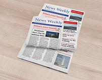 Newspaper Cover Design