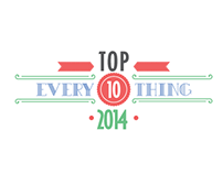 Top Ten Everything of 2014-Infographic