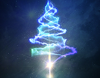 particle chirstmas tree