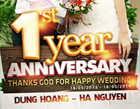 My 1st Wedding Anniversary