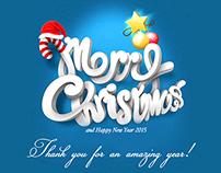Christmas e-Card Design from Tonydoo Visuals Studios.