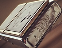 Macro photographs of a 13 years old Zippo lighter