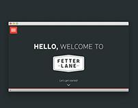 Fetter Lane Landing Page