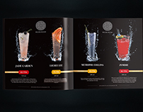 «THE MOON ROOM» BAR menus for special cocktail