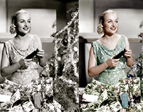 Merry Christmas from Carol Lombard, 1935.