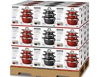 Stackable Cookware Set Packaging