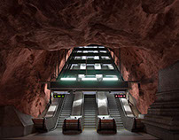Tunnelbana. Sverige.