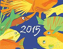 Дипломный проект, календарь на 2015 год.