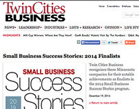 Small Business Success Stories Finalists 2014