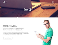 Danny - One page personal website design