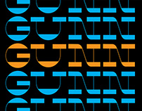 GUNN | Display typeface