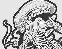 Estampa Alien Xenomorfo - Oest Street Wear