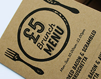 Fire and Brew Menu & Social Campaign