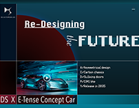 Landingpage concept design for the DS X E-Tense