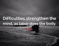 Let difficulties increase your determination