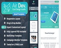AirDev- Responsive Email Template + ThemeBuilder Access