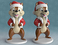Cartoon Chipmunk Christmas Edition. FREE