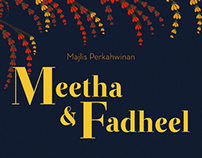 Meetha & Fadheel wedding invitation
