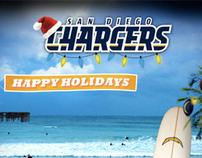 San Diego Chargers Holiday Media Blast