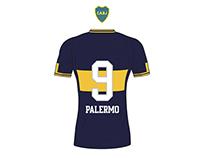 Tipografía Boca Juniors