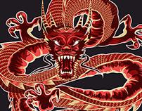 Illustration, China Dragon