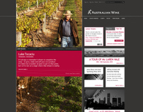 A+ Australian Wine website for Australian Wine & Brandy