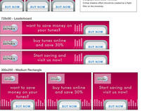 QmeCom banner ad templates for AdLizard