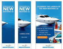 Mustang banner ad design